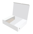 White opened box vector image