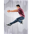 Young man dancer jumping vector image vector image