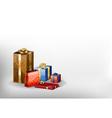 christmass gift grey white vector image