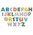 decorative alphabet in scandinavian style color vector image