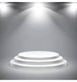 Round White Podium vector image