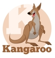 ABC Cartoon Kangoroo vector image vector image