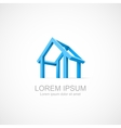 abstract construction house vector image