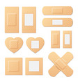 adhesive bandage elastic medical plasters vector image vector image