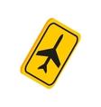 Airport yellow sign icon isometric 3d style vector image vector image