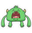 angry yelling green goblin cartoon monster vector image vector image