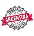 argentina round ribbon seal vector image vector image