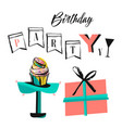 birthday holiday christmas greeting and vector image