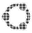 black pixel cooperation icon vector image vector image