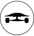 black skateboard flat silhouette design vector image