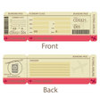 Boarding Pass Design Template vector image vector image