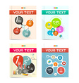 Brochure - Books - Flyers or Posters Covers Set vector image vector image
