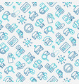 car sharing seamless pattern vector image