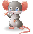 cartoon mouse waving hand vector image vector image