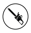 chain saw icon vector image vector image