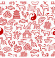 chinese symbols seamless pattern vector image