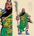 chinese warrior vector image vector image