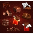Chocolate bars and pieces vector image