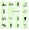 controller icons vector image vector image