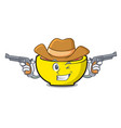 cowboy soup union character cartoon vector image vector image