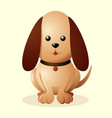 cute little puppy vector image