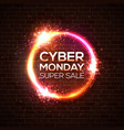 cyber monday super sale discount card concept vector image vector image