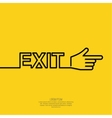 Emergency exit sign vector image vector image