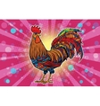 Farm bird rooster on holiday background vector image