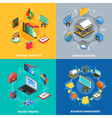 Financial Isometric Icons Square Composition vector image