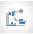 Flat color x-ray machine icon vector image vector image