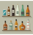 Flat icons alcoholic beverages vector image vector image