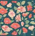 floral pattern flower marigold seamless background vector image vector image