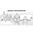 germany neuschwanstein line skyline vector image
