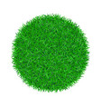 green grass circle 3d green round ball isolated vector image