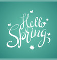 hand writing of hello spring vector image vector image