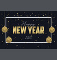 happy new year greeting card for 2020 year design vector image vector image