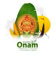 happy onam festival south india-kerala vector image vector image