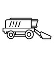 harvester icon outline style vector image