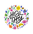 healthy nutrition flat hand drawn vector image
