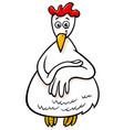 hen or chicken farm character cartoon vector image vector image