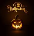 Jack o Lantern Dark Scary vector image vector image