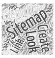 JS how to create a sitemap Word Cloud Concept