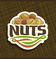 logo for nuts vector image vector image