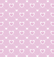 Love valentines day seamless pattern vector image vector image