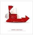 Merry christmas greeting card - with Santa claus vector image