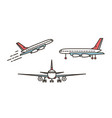 modern airplane passenger plane airliner or vector image