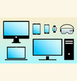 modern digital screens color icons isolated set vector image