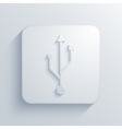 modern usb light icon vector image