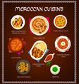 moroccan cuisine restaurant menu template vector image vector image