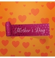 Mothers Day realistic greeting curved Ribbon vector image vector image